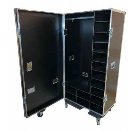 Flight case tipo armario para Frac y Calzado