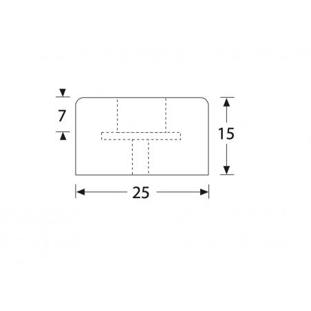 Taco de goma 35 x 15 mm